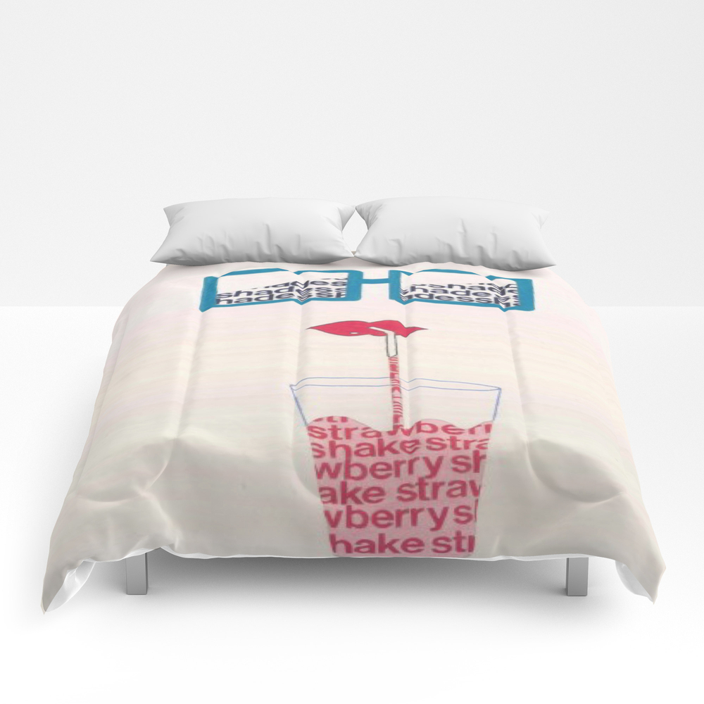 Strawberry Shake #1 Comforter by Superchiefjeronimo CMF8469488