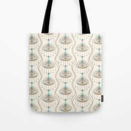 Beautiful medallions with blue appliqués . Tote Bag