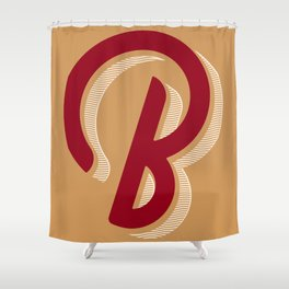 BOLD 'B' DROPCAP Shower Curtain