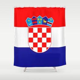 Flag of Croatia Shower Curtain