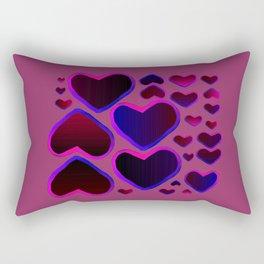 Purple Heart Rectangular Pillow