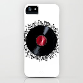 Musical Notes Record iPhone Case