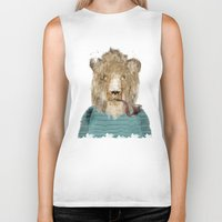 jeep Biker Tanks featuring jeep the lion by bri.buckley