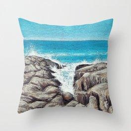 Northeast Coast Throw Pillow
