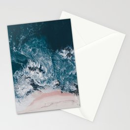 I love the sea - written on the beach Stationery Cards