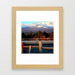 Morning Irrigation Framed Art Print