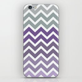Purple Fade Chevron Zigzag Pattern iPhone Skin