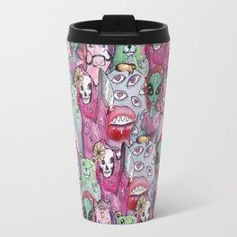 watercolor monsters Travel Mug