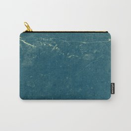 Vintage Blue Marble Carry-All Pouch