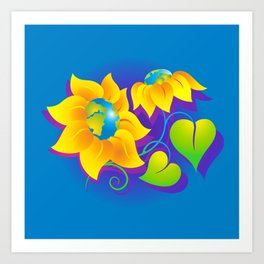Sunflower World Art Print
