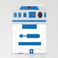 r2d2 Stationery Cards featuring r2d2 by heartfeltdesigns by Telahmarie