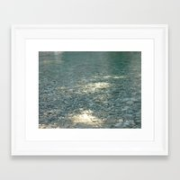 clear Framed Art Prints featuring Clear by Françoise Reina