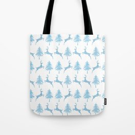 Leaping Deer in a Winter Forest Tote Bag