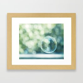 Bubble Photography, Bathroom Blue Green Art, Soap Bubbles Laundry Room Print, Bath Nursery Photo Framed Art Print