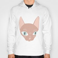 sphynx Hoodies featuring Sphynx by Shaye Display Illustrations