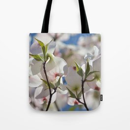 White Dogwood Tree Floral Tote Bag
