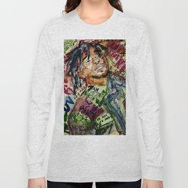 colorful hiphop,poster,lil,rap,artist,music,lyrics,colourful,poster,cool,dope,print,uzi Long Sleeve T-shirt