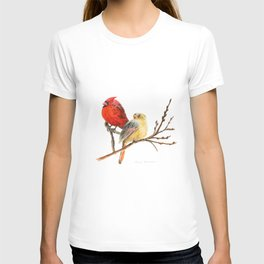 The Perfect Pair - Male and Female Cardinal by Teresa Thompson T-shirt