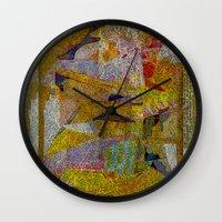 verse Wall Clocks featuring Psalm 111 Verse 10 by ArtistsWorks