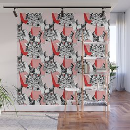 Red Ruby Robot Head Wall Mural