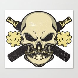 Cloud Chaser - Vaping Skull Canvas Print