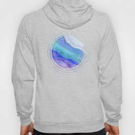 AGATE Inspired Watercolor Abstract 07 Hoody