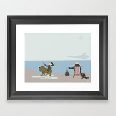 Grandad's Day Off, Nursery Wall Art, Nursery Decor Framed Art Print