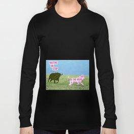 The vegan bull Long Sleeve T-shirt