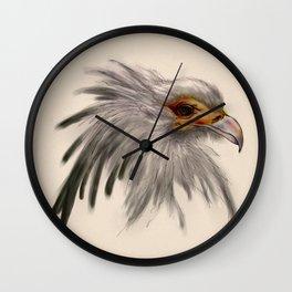 Secretary bird head Wall Clock