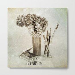 Still life for painter Metal Print