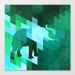 Emerald Elephant Canvas Print