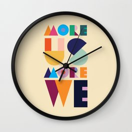 More Us More We - ByBrije Wall Clock
