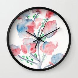 21  | Loose Watercolor Flower | 191015 Wall Clock