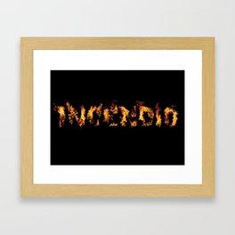 Harry Potter Incantation Collection : Incendio Framed Art Print