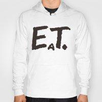eat Hoodies featuring EAT by Masahisa  Saito