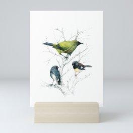 the cutie trio Mini Art Print