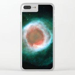 Eye Galaxy Clear iPhone Case