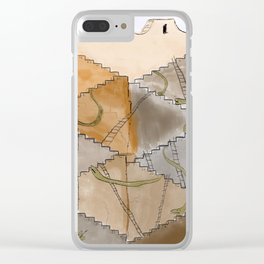 Snakes and Ladders Clear iPhone Case
