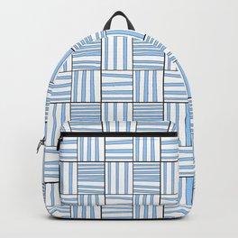 symetric tartan and gingham 7 -vichy, gingham,strip,square,geometric, sober,tartan Backpack