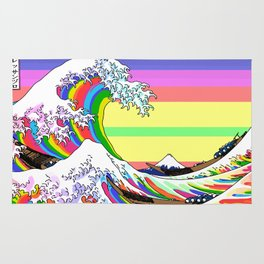 The Great Wave off Kanagawa (Colorful) Rug