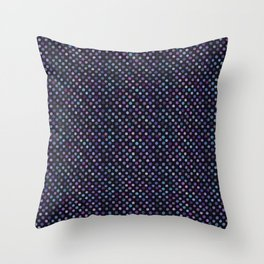 Retro Colored Dots Material Throw Pillow