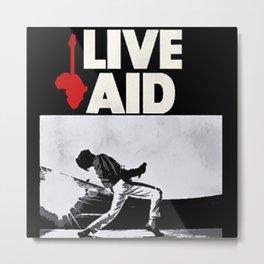 Live Aid 1985 Vintage Concert Festival Gig Advertising Music Poster Metal Print