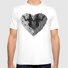 Self Love B/W MEDIUM White Mens Fitted Tee
