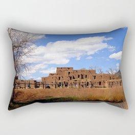 Taos Pueblo, Early Spring Rectangular Pillow