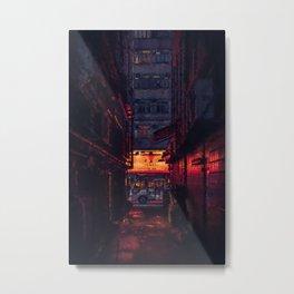 Glowing Alleyway Metal Print