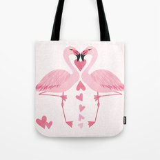 Flamingo Love. Tote Bag
