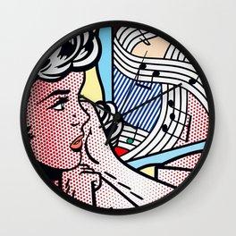 Roy Lichtenstein Girl Wall Clock