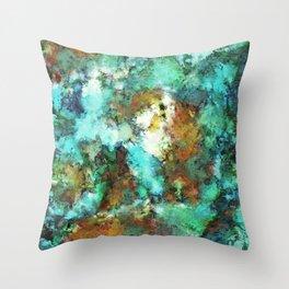 Turquoise terrain Throw Pillow