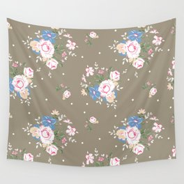 Heirloom Rose - Raw Umber Wall Tapestry
