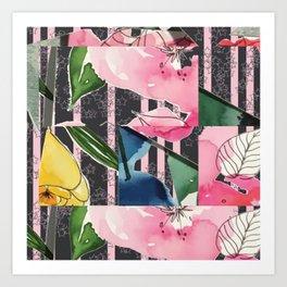 Floral Clash Art Print